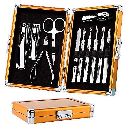 Nagelknipser Set 11 Stück Maniküre Pediküre Set Edelstahl Nägel Clipper Schere Mit Luxus Geschenkbox Goldetui