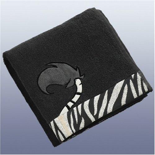 NICI 28578 - Duschtuch schwarz 70 x 140 cm, Zebra