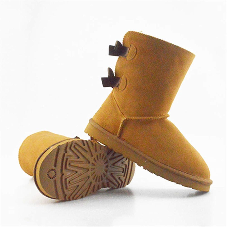 Kvinnors vinterskor, läderläder, kallt väder Hiking Non Non Non -Slip Cotton stövlar  snabb leverans