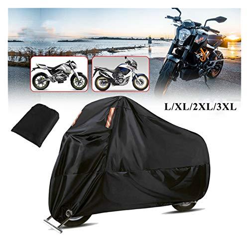 Cubierta de Motocicleta Impermeable a Prueba de Polvo Universal para Moto Scooter Moto Bicicleta Invierno Interior Almacenamiento al Aire Libre Nieve Cubierta Lluvia (Size : L)