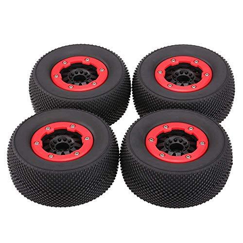 ARTFFEL Unidad 4 PC/RC 1:10 neumáticos de Camiones Corto Curso Conjunto de Neumáticos llanta de la Rueda de la Raya Vertical HPI de Control Remoto de Coches de Juguete de Modelo Piezas Engranaje