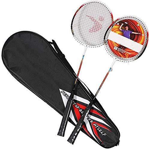 LEICH Badmintonschläger, Leichte Trainingsschläger Aluminium-Legierung Badmintonschläger High Grade Fachmann mit Premium-Badminton-Tasche (Color : B)