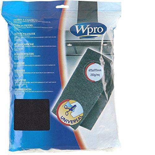 Wpro UCF007 1 X Filtre de Hotte à Charbon Universel 250g/m²