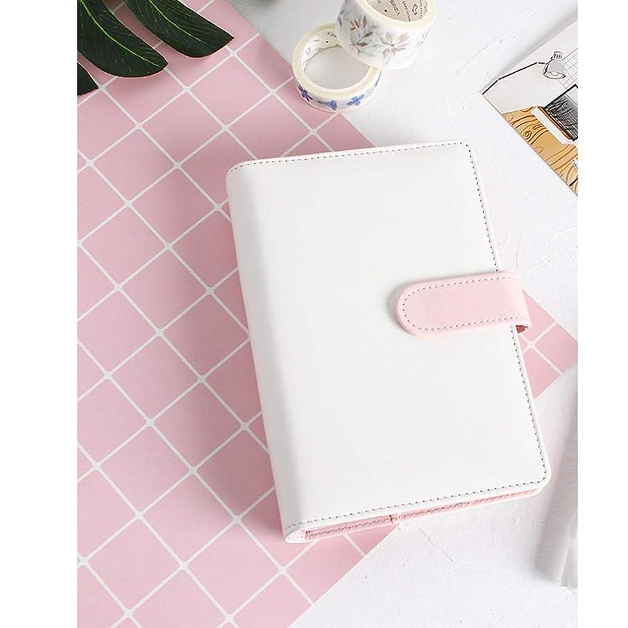 シンプルで新鮮な新鮮なマカロンルーズリーフブックA5ポータブルノートハンドブックノート、230 mm X 175 mm (Color : D)