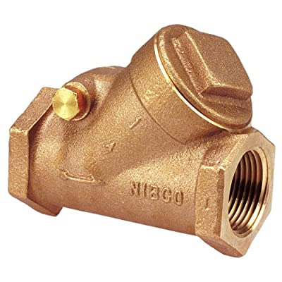 """NIBCO NL7K00C Cast Bronze Check Valve, Silent Check, Class 150, PTFE Seat, 1-1/2"""" Female NPT Thread (FIPT) by NIBCO"""