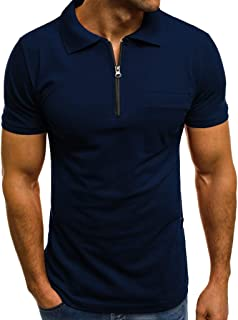 SFE Fashion Polo Shirts,Personality Men's Casual Slim Short Sleeve Pockets T Shirt Top Blouse