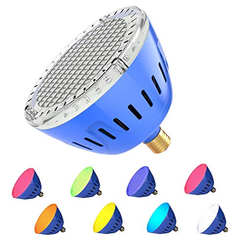LAMPAOUS LED Pool Lights Bulb for Inground Pool RGBW Color Changing Pool Bulb for Pentair Hayward Fixture R40 Pool Bulb Replacement 120VAC 35W