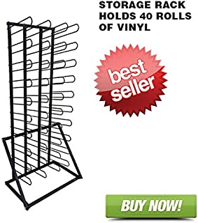 Signworld Vinyl Roll Floor Storage Rack - Holds 40 Rolls