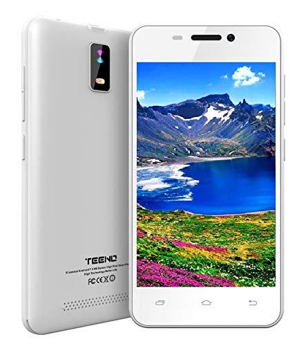 """Smartphone Pas Cher 4G/WiFi 4.0"""" Pouces Téléphone Portable Débloqué 1Go RAM 8Go ROM Une SIM Smartphone Pas Cher (Blanc)"""