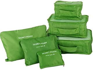 Pramukhhub ; Travel Laundry Waterproof Pouch with Cosmetics Makeup Bags Cloth Storage.Green