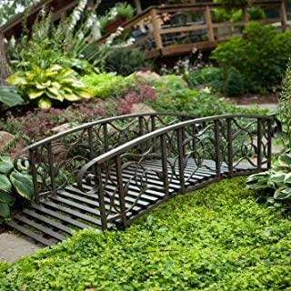6-ft. Metal Garden Bridge Willow Creek Lawn Furniture