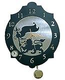 IMEX EL ZORRO El Zorro 11346-Reloj león con banderola, 374 x 312 mm, Metal, Gris,...