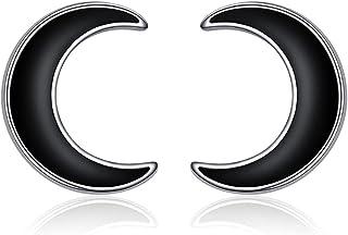 أقراط من الفضة الإسترلينية 925 من ينشان، أقراط أذن سوداء بسيطة للرجال والنساء هدية