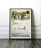 Free Brand 27,9 x 35,6 cm Holz Wandschild Kopenhagen Poster