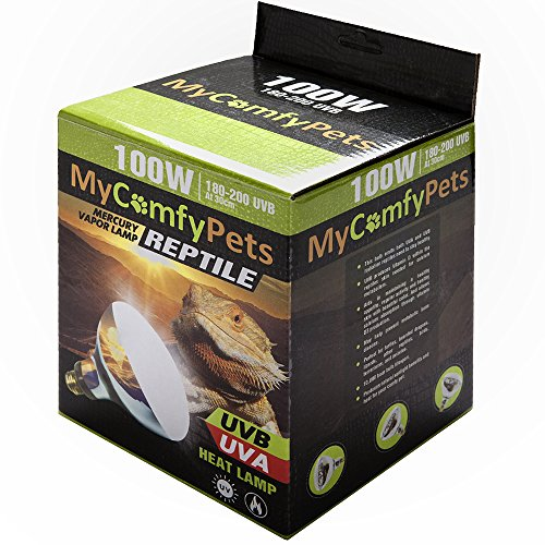 MyComfyPets UVB Light and UVA 2-in-1 Reptile Bulb 100W