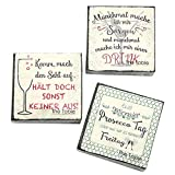 MACOSA Set di 60 tovaglioli di carta con scritta in lingua inglese 'Nero Bianco Rosso Spumante Prosecco' - Tovaglioli di carta usa e getta per feste di compleanno