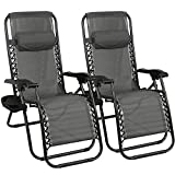 Barreau Piaf Zero Gravity Chair Set of 2 Outdoor Sun Lounger Chair Folding