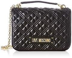 Idea Regalo - Love Moschino SS21, Borse a Spalla da Donna, Collezione Primavera Estate 2021, Nero, Normal