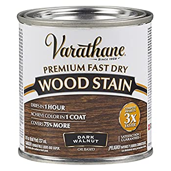 Varathane 262025 Premium Fast Dry Wood Stain Half Pint Dark Walnut