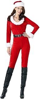 SGJFZD Red Christmas Girl Dress-Piece Dress Fashion Christmas Costumes Nightclub Babes Performance Clothing DS Costumes Ch...