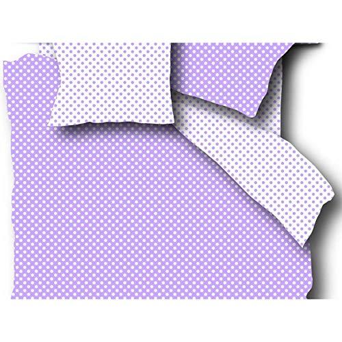Literie de Lit B/éb/é avec Fermeture portefeuille 100/% Coton Housse de Couette 100x135 cm Housse de Taie 40x60 cm Fillikid Parure de Lit Enfant Gris /à Pois Blanc certifi/é Oeko-Tex