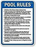 Placa de metal para pared, letrero de metal, letreros de estaño, reglas de piscina, letreros de metal, letreros de metal, aluminio, 20,3 x 30,5 cm