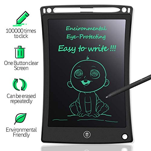 Billetera LCD Writing Pad Gifts for Kids 8.5 Inch Educational Toy Handwriting Drawing Digital Writing Tablet and Pen with Erase Button Gifts for Boys/Girls – (Pack of 1,Multi Colour)