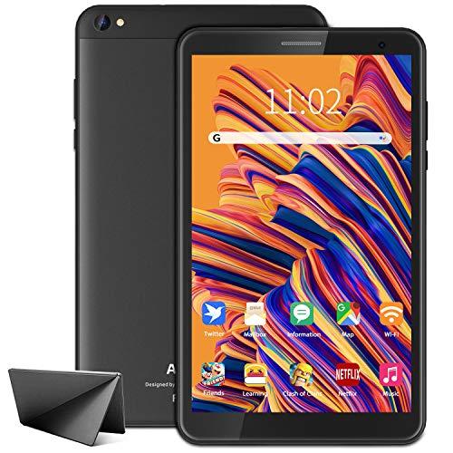 Tablette 8 Pouces Android 10 Tablette Tactile, 3 Go RAM, 32 Go ROM/128 Go Extensible, Quad-Core 1.6 GHz, WiFi Tablet PC avec Double Caméras, 5000 mAh Batterie, Mode de Lecture, Google Play, Type-C