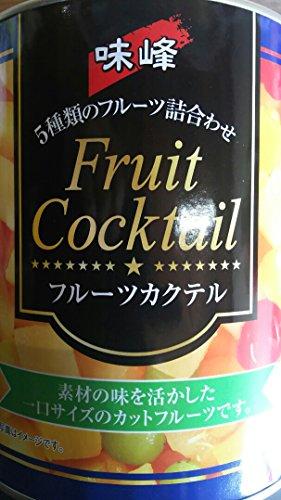 中国産 フルーツカクテル ・ シロップ づけ ( ライト ) 総量 3000g ( 固形1800g )× 6缶 業務用