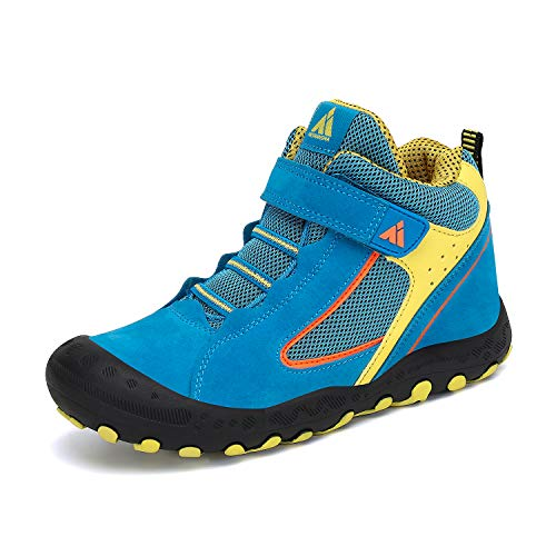 Mishansha Boy's Sneakers Hiking Outdoor Running Slip on Girl's Trekking Boots Breathable Walking Casual Kids Shoes Blue Little Kid 2