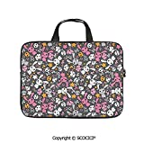 SCOCICI 15-15.6 Inch Laptop Bag Sleeve Case Kawaii Bunnies and