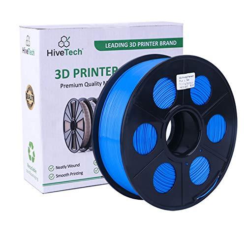 HiveTech3D PLA Printer Filament 1.75mm - 3D Printer Filament PLA 1kg Spool (2.2lbs) Dimensional Accuracy of +/- 0.02mm PLA (Blue)