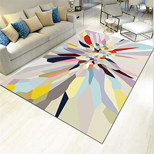 SONGHJ Alfombra De Poliéster Geométrico Abstracto Impreso Sofá Rectangular Manta De Mesa De Café Alfombra De La Habitación del Hogar K 160X230cm