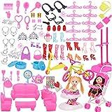 ZSWQ 108 Piezas de Accesorios para muñecas Miniatura Mopa Recogedor Cubo Cepillo de Limpieza del Hogar Herramientas Set Dollhouse Jardín Accesorios para Muñecas Regalo de Cumpleaños Niñas
