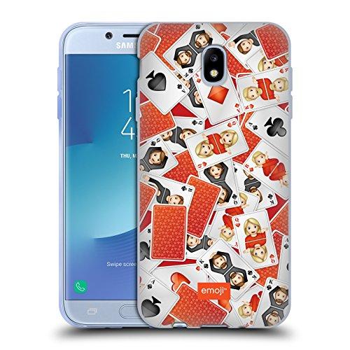 Head Case Designs Oficial Emoji Jugar a Las Cartas Patrones 3 Carcasa de Gel de Silicona Compatible con Samsung Galaxy J7 2017 / Pro