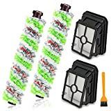 OniXunber 2 Pack Multi-Surface Pet Pro Brush Rolls 2306A and 2 Pack 1866 Vacuum Filter Replacement for Bissell CrossWave 1785 Series Wet Dry Vacuum Cleaner, Compare to Part 1613568, 1608684