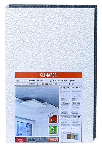 CLIMAPOR Decken-Dämmplatte GRAPHIT, weiß, 58 x 38 x 3 cm, 8 Packstücke à 4 Platten (ca. 7,2 qm)