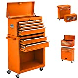 High Capacity 8-Drawer Tool Chest with Sliding Drawers,Removable 4-wheel Rolling Tool Box, Tool...