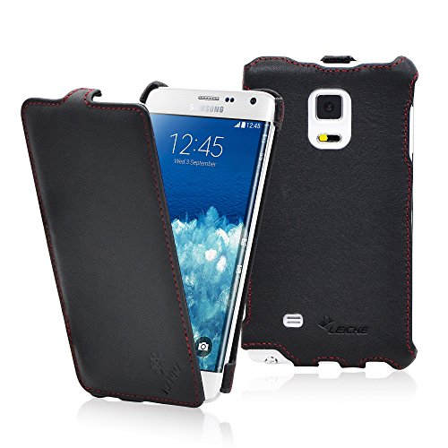 MANNA - Pregiata custodia protettiva UltraSlim per Samsung Galaxy Note 4 Edge in Vera Pelle Nappa con apertura Flip