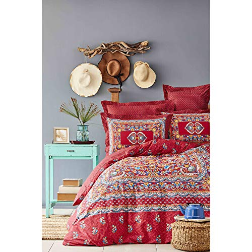 MIHVER PANO RED RNF DOUBLE DUVET COVER SET