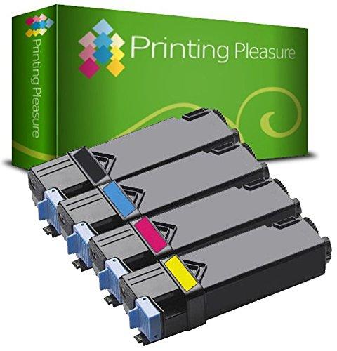4 Toner kompatibel für Xerox Phaser 6500 6500DN 6500N WorkCentre 6505 6505DN 6505N - Schwarz/Cyan/Magenta/Gelb, hohe Kapazität