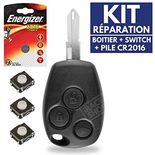 Coque Plip Clé Auto Boitier de Télécommande Renault Modus ►Kangoo ►Master ► Twingo ►Clio 3 ►Laguna - Kit iRace Keys®