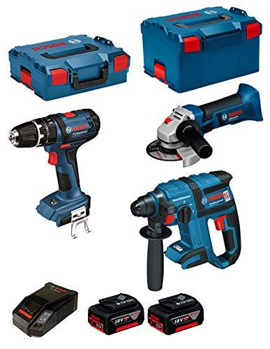 Bosch Kit psl3m3Professional (GBH 18V-EC + GSB 18-2-LI + GWS 18V-LI +...