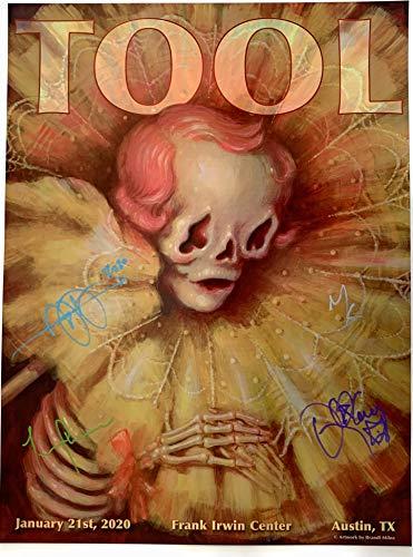 Tool signed poster austin concert 2020 tour texas group autographed brandi milne art