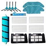 DOKKOO Piezas de Repuesto para Conga 5090 6090 Kits de Accesorios para aspiradoras Paquete de 6 filtros Hepa, 1 Cepillo de Rodillo Suave, 4 cepillos Laterales, 2 trapeadores