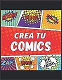 Crea tu comic variedad de plantillas 150 paginas: Dibuje sus propios cómics para estudiantes, artistas, niños y adultos, exprese su talento y ... de panel de 4 a 6, ... . (crea tu comics)