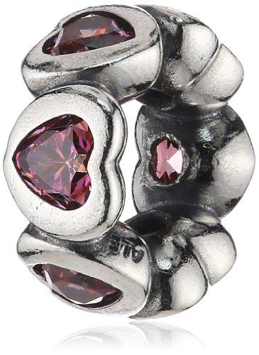 Pandora Damen-Bead 925 Sterling Silber Zirkonia rosa 791252CZS
