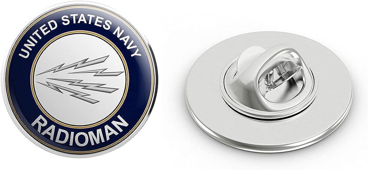 US Navy Radioman RM Military Veteran USA Pride Served Gift Metal 0.75