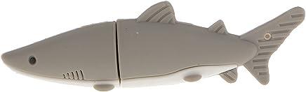 Unità Flash USB Squalo Stile Pollice U Disco PenDrive 4GB - 32GB - Grigio, 32GB