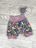 kurze Pumphose Jersey haremshose Gr. 56-110, hose mädchen fuchs grau rosa, Babyhose, Shorts kurze Hose
